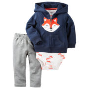 Carter's® 3-pc. Fox Cardigan, Bodysuit and Pants Set - Baby Boys newborn-24m
