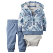 Carter's® 3-pc. Cotton Cardigan Set - Baby Boys newborn-24m