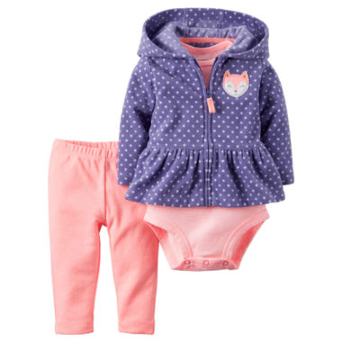 jcpenney.com | Carter's® 3-pc. Dot Cardigan Set - Baby Girls newborn-24m
