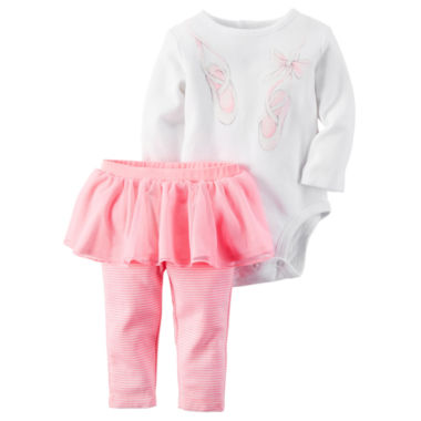 jcpenney.com | Carter's® 2-pc. Ballet Bodysuit and Pants Set - Baby Girls newborn-24m