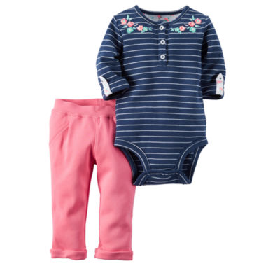 jcpenney.com | Carter's® 2-pc. Striped Bodysuit and Pants Set - Baby Girls newborn-24m
