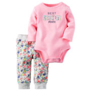Carter's® 2-pc. Best Sis Bodysuit and Pants Set - Baby Girls newborn-24m