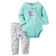 Carter's® 2-pc. Butterfly Bodysuit and Pants Set - Baby Girls newborn-24m