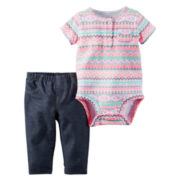Carter's® 2-pc. Aztec Bodysuit and Jeggings Set - Baby Girls newborn-24m
