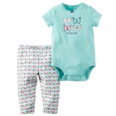 jcpenney.com | Carter's® Bodysuit and Pants Set - Baby Girls newborn-24m