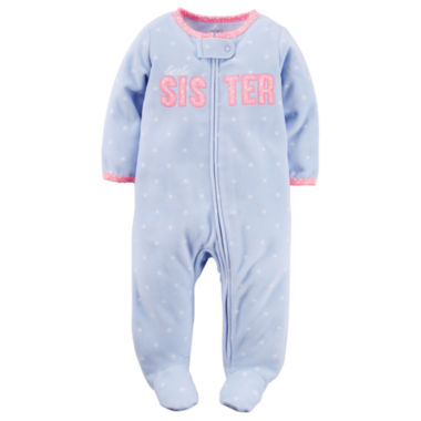 jcpenney.com | Carter's® Dot Microfleece Sleep-N-Play - Baby Girls newborn-24m