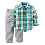 Carter's® 2-pc. Playwear Long-Sleeve Top & Pants Set - Baby Boys newborn-24m