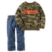 Carter's® 2-pc. Camo Playwear Cotton Pants Set - Baby Boys newborn-24m