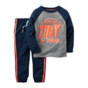 Carter's® 2-pc. Playwear Long-Sleeve Tee & Pants Set - Baby Boys newborn-24m
