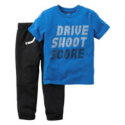 Carter's® 2-pc. Short-Sleeve Tee & Pants Set - Baby Boys newborn-24m