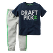 Carter's® 2-pc. Short-Sleeve Tee & Pants Set - Baby Boys newborn-24m