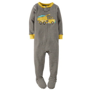jcpenney.com | Carter's® Boy Long-Sleeve Dump Truck Footed Pajamas - Baby Boys newborn-24m