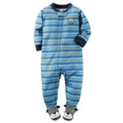 Carter's® Boy Long-Sleeve Stripe Footed Pajamas - Baby Boys newborn-24m