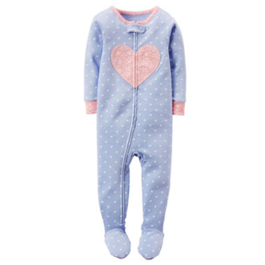 jcpenney.com | Carter's® Girl Long-Sleeve Dot Footed Pajamas - Toddler Girls 2t-5t