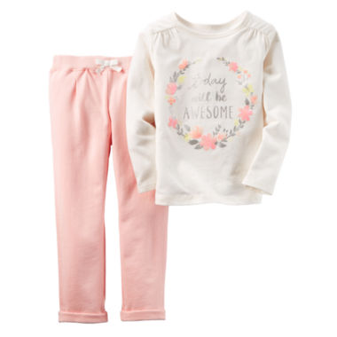 jcpenney.com | Carter's® 2-pc. Ivory Today Top and Pants Set - Baby Girls newborn-24m