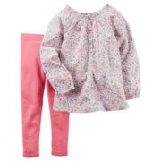 Carter's® 2-pc. Floral Playwear Set - Baby Girls newborn-24m