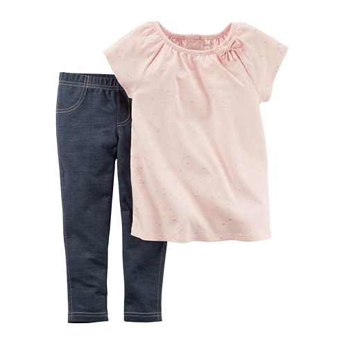 Carter's® 2-pc. Top & Jeggings Playwear Set - Baby Girls newborn-24m