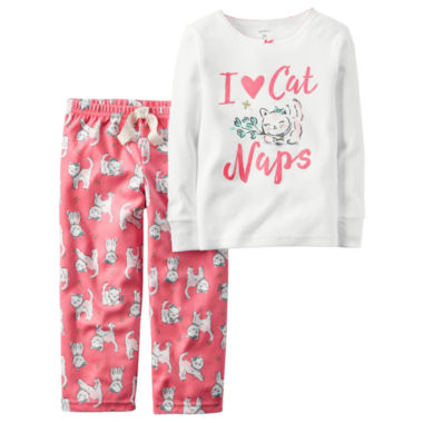 jcpenney.com | Carter's® 2-pc. I Love Cat Naps Fleece Pajama Set - Baby Girls newborn-24m