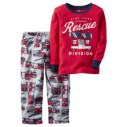 Carter's® 2-pc. Red Fire Truck Fleece Pajama Set - Baby Boys newborn-24m