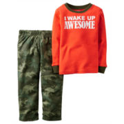 Carter's® 2-pc. I Wake Up Awesome Camo Pajama Set - Toddler Boys 2t-5t