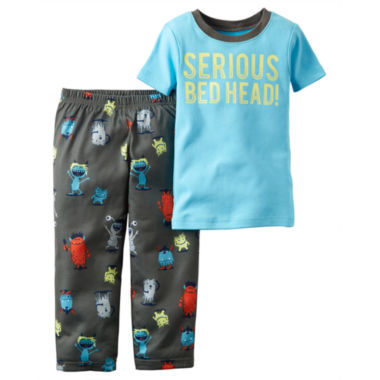 jcpenney.com | Carter's® 2-pc. Serious Bedhead Pajama Set - Toddler Boys 2t-5t