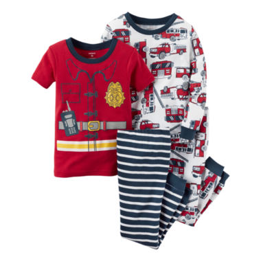jcpenney.com | Carter's® 4-pc. Fireman Pajama Set - Baby Boys newborn-24m