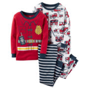 Carter's® 4-pc. Fireman Pajama Set - Toddler Boys 2t-5t