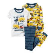 Carter's® 4-pc. Construction Pajama Set - Toddler Boys 2t-5t