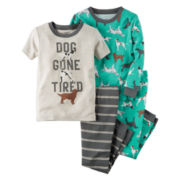 Carter's® 4-pc. Cotton Pajama Set - Toddler Boys 2t-5t