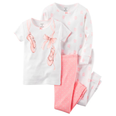 jcpenney.com | Carter's® 4-pc. Pajama Set - Toddler Girls 2t-5t