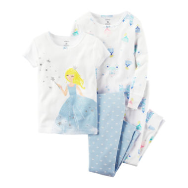 jcpenney.com | Carter's® 4-pc. Cotton Pajama Set - Baby Girls newborn-24m