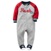 Carter's® Long-Sleeve Athletic Hunk Sleep & Play - Baby Boys newborn-9m