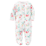 Carter's® Long-Sleeve Floral Interlock Sleep & Play - Baby Girls newborn-24m