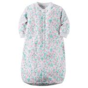 Carter's® Floral Microfleece Sleepbag Sleepwear - Baby Girls one size fits newborn-9m