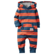 Carter's® Long-Sleeve Striped Jumpsuit with Hood - Baby Boys newborn-24m