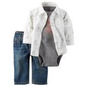 Carter's® 3-pc. Arrow Bodysuit Set - Baby Boys newborn-24m