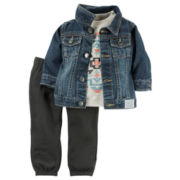 Carter's® 3-pc. Jacket and Pants Set - Baby Boys newborn-24m