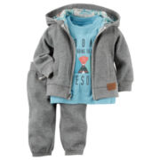 Carter's® 3-pc. Cardigan Set - Baby Boys newborn-24m