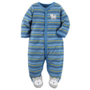 Carter's® Long-Sleeve Blue Terry Sleep & Play - Baby Boys newborn-24m