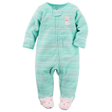 jcpenney.com | Carter's® Long-Sleeve Turquoise Sleep & Play - Baby Girls newborn-24m