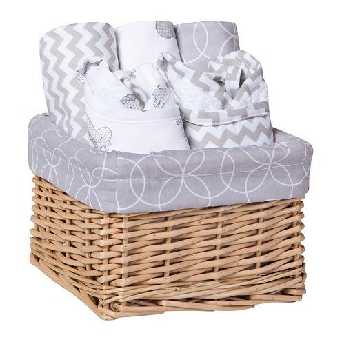 Trend Lab® Safari 7-pc. Feeding Basket Gift Set