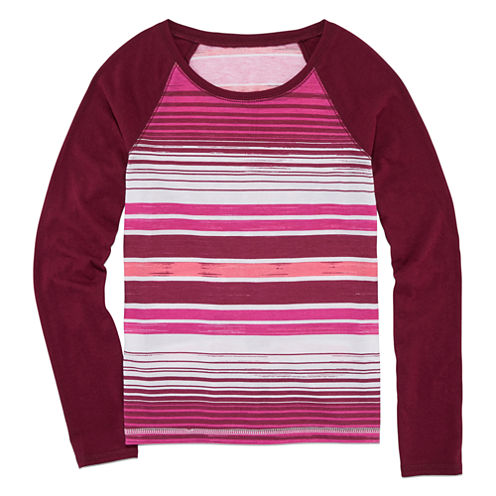 Arizona Long-Sleeve Printed Fave Tee - Girls Plus