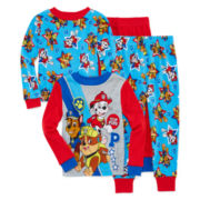Licensed Character Hooded® Paw Patrol 4-pc. Cotton Pajama Set - Toddler Boys 2t-4t
