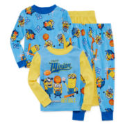 Licensed Character Hooded® Minion Tb 4-pc. Cotton Pajama Set - Toddler Boys 2t-4t