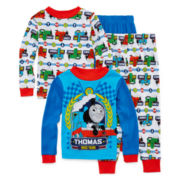 Licensed Character Hooded® Thomas and Friends 4-pc. Cotton Pajama Set - Toddler Boys 2t-4t