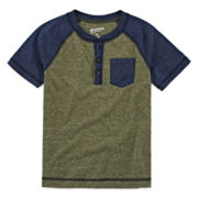 Arizona Short-Sleeve Henley Tee - Preschool Boys 4-7