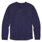 U.S. Polo Assn.® Long-Sleeve Henley Cotton Shirt - Boys 8-20