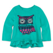 Arizona Long-Sleeve Graphic Top - Baby Girls 3m-24m