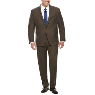 jcpenney.com | Collection by Michael Strahan Brown Sharkskin Suit Jacket or Pants -Big & Tall