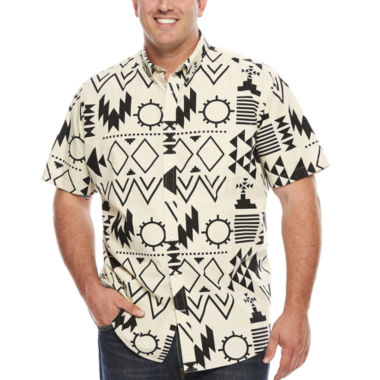 jcpenney.com | The Foundry Big & Tall Supply Co.™ Short-Sleeve Printed Woven Shirt